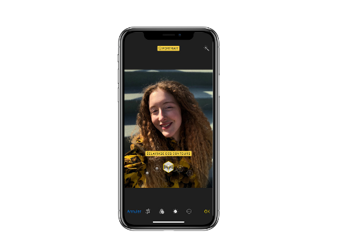 Iphone X : caméra frontale