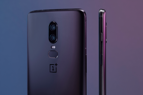 OnePlus 6 : design Midnight Black