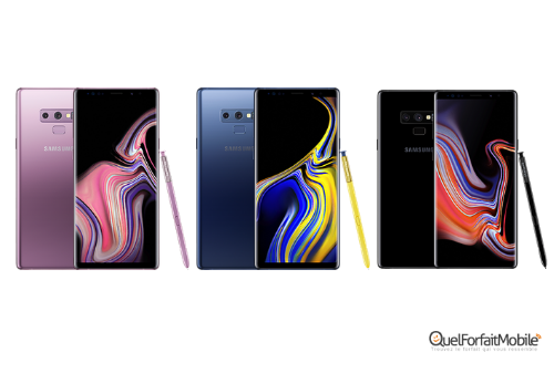 Le Samsung Galaxy Note 9, disponible en 3 coloris
