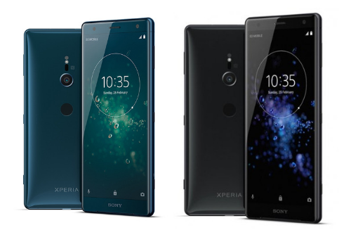 L'appareil photo du Le design du Sony Xperia XZ2